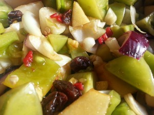 Green Tomato and Chilli Chutney RecipeGreenside Up