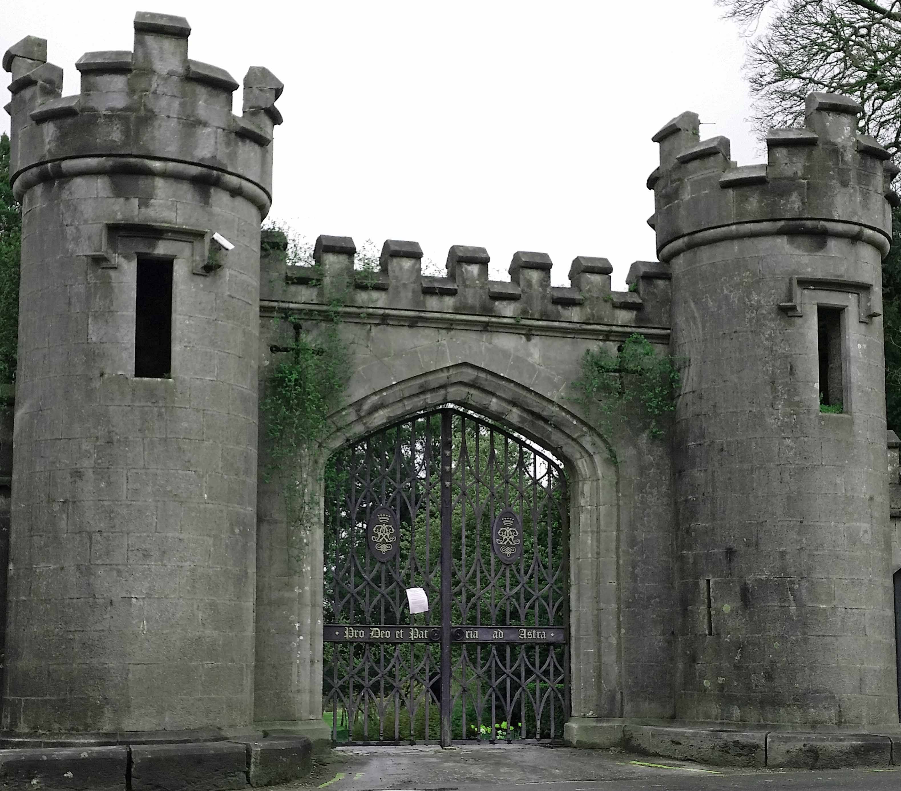 Birr Castle Front Gates In The Magical Midlands Greenside Up