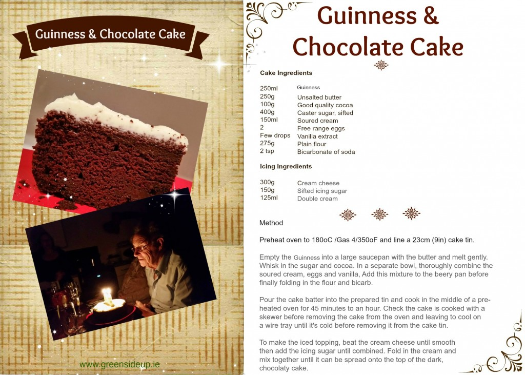 Guinness & Chocolate Cake Recipe