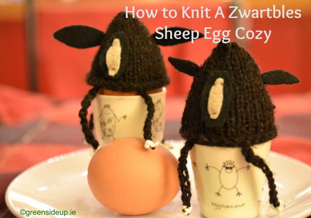 How to knit a Zwartbles Egg Cozy