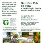 Irish Seed Savers Workshop in Carlow Town