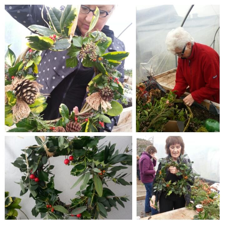 Goresbridge gardeners wreath making