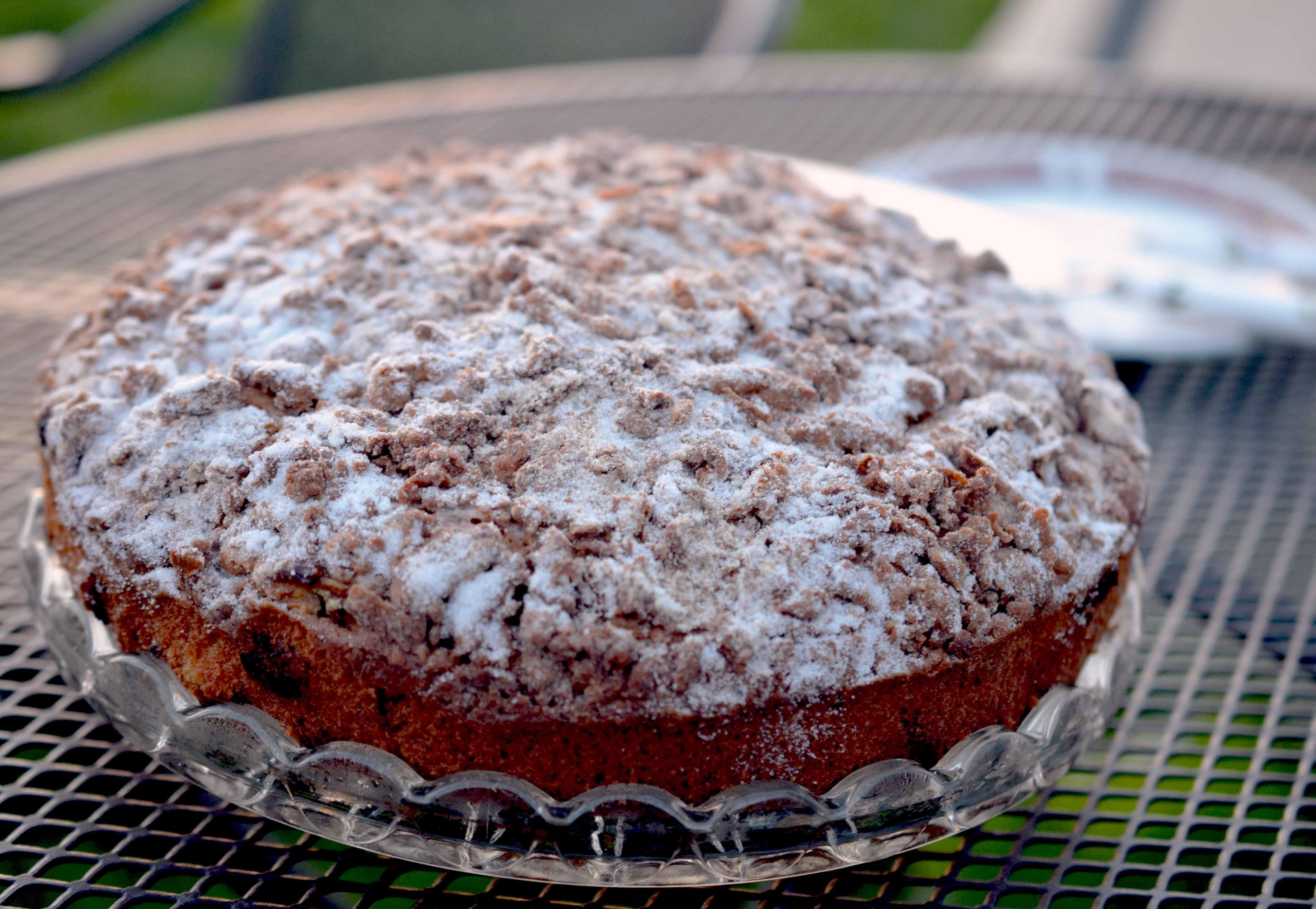 Rhubarb Crumble Cake Whole