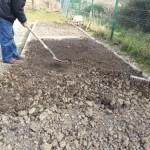Preparing the soil for sowing at Callan Community Garden