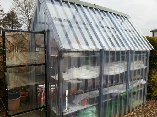 Homemade Greenhouse Greenside Upgreenside Up